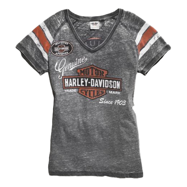 Harley-Davidson Women's Genuine Oil Can Burnout Tee
