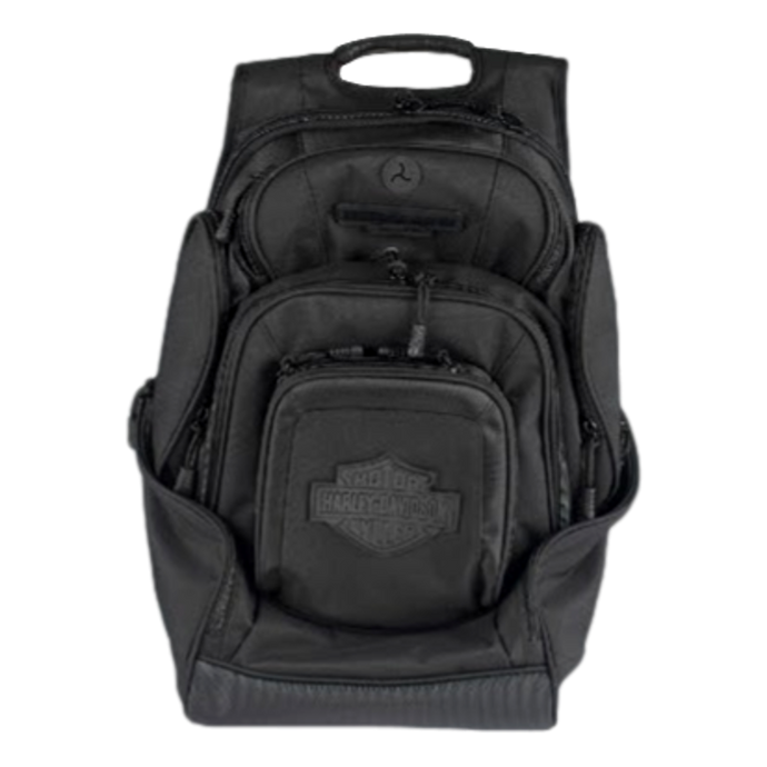 Bar & Shield Deluxe Backpack-Black