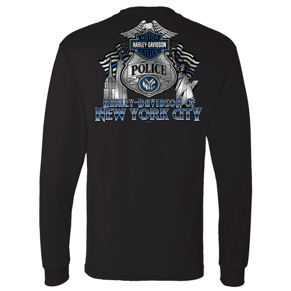 NYC EXCLUSIVE BLACK POLICE LONG SLEEVE SHIRT