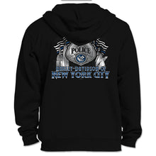 NYC Exclusive Black Zip Up Police Hoodie