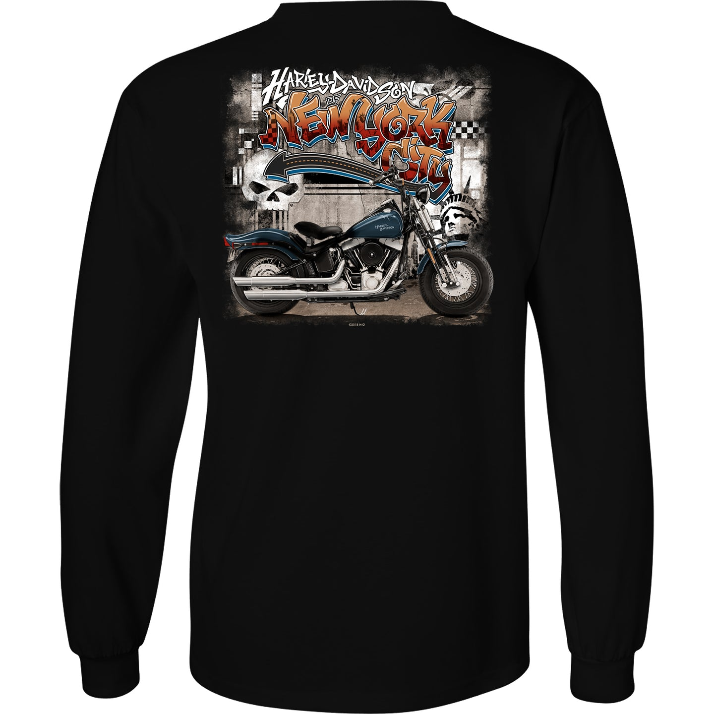 NYC Exclusive Black Graffiti Long Sleeve Shirt