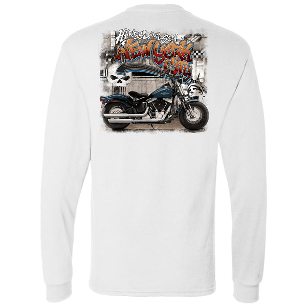 NYC Exclusive White Graffiti Long Sleeve Shirt