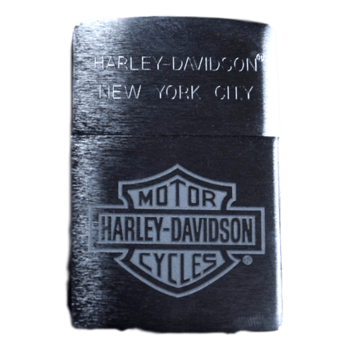 H-D Of NYC Engraved Chrome Bar & Shield Zippo Lighter