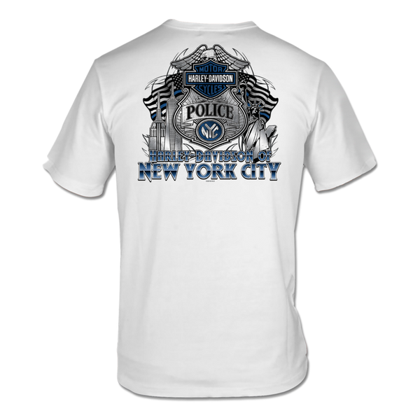 NYC EXCLUSIVE White POLICE SHORT SLEEVE TEE