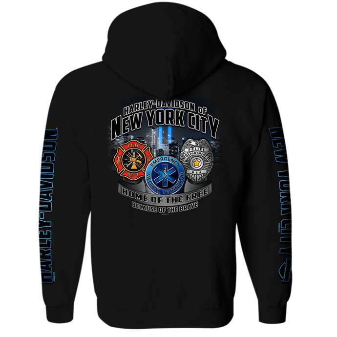 NYC First Responder's Zip-up Hoodie