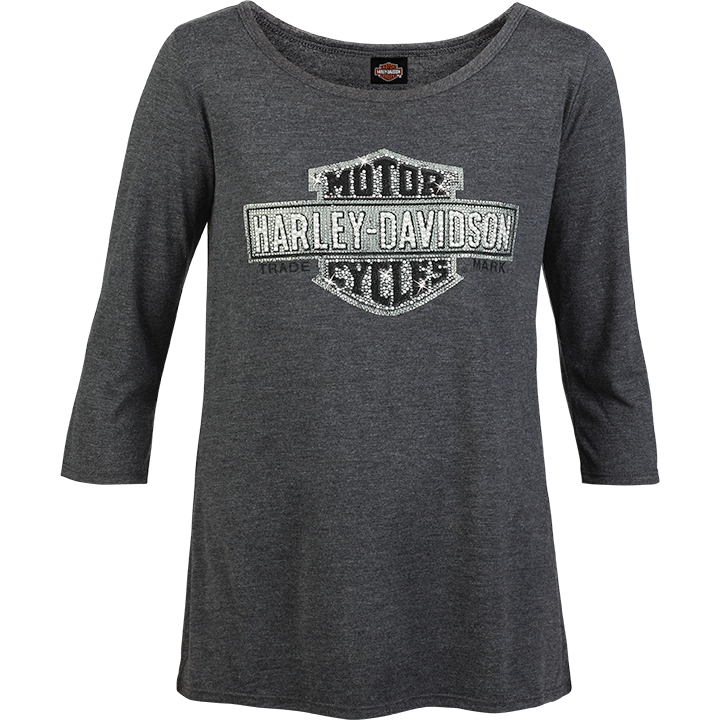front-harley-davidson-genuine-womens-refined-logo-3-4-sleeve-tee-grey