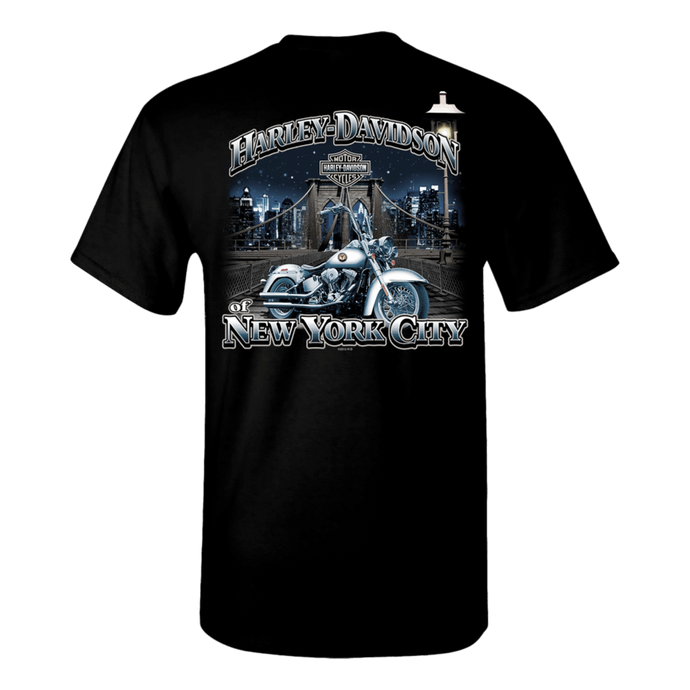NYC Exclusive Black Brooklyn Bridge Short Sleeve Tee