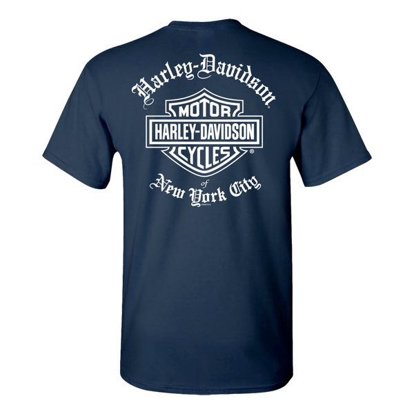 NYC Exclusive Old English Navy Blue Short Sleeve Tee