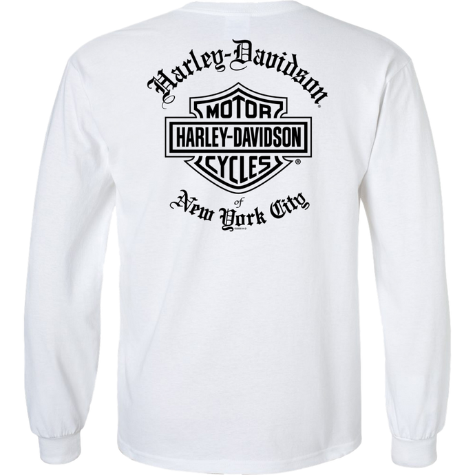 NYC Exclusive WHITE OLD ENGLISH Long Sleeve Shirt