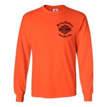 front-harley-davidson-nyc-old-english-long-sleeve-orange-tee