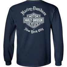 NYC Exclusive Navy Old English Long Sleeve Shirt
