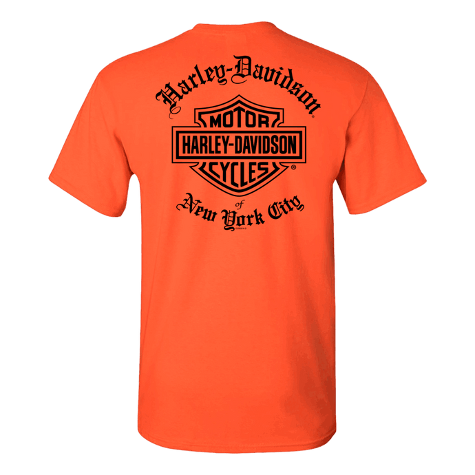 NYC Exclusive Old English Orange Short Sleeve Tee