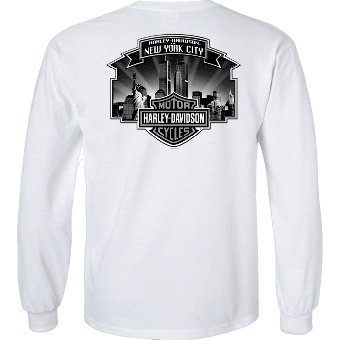 NYC Exclusive Skyline White Long Sleeve Shirt