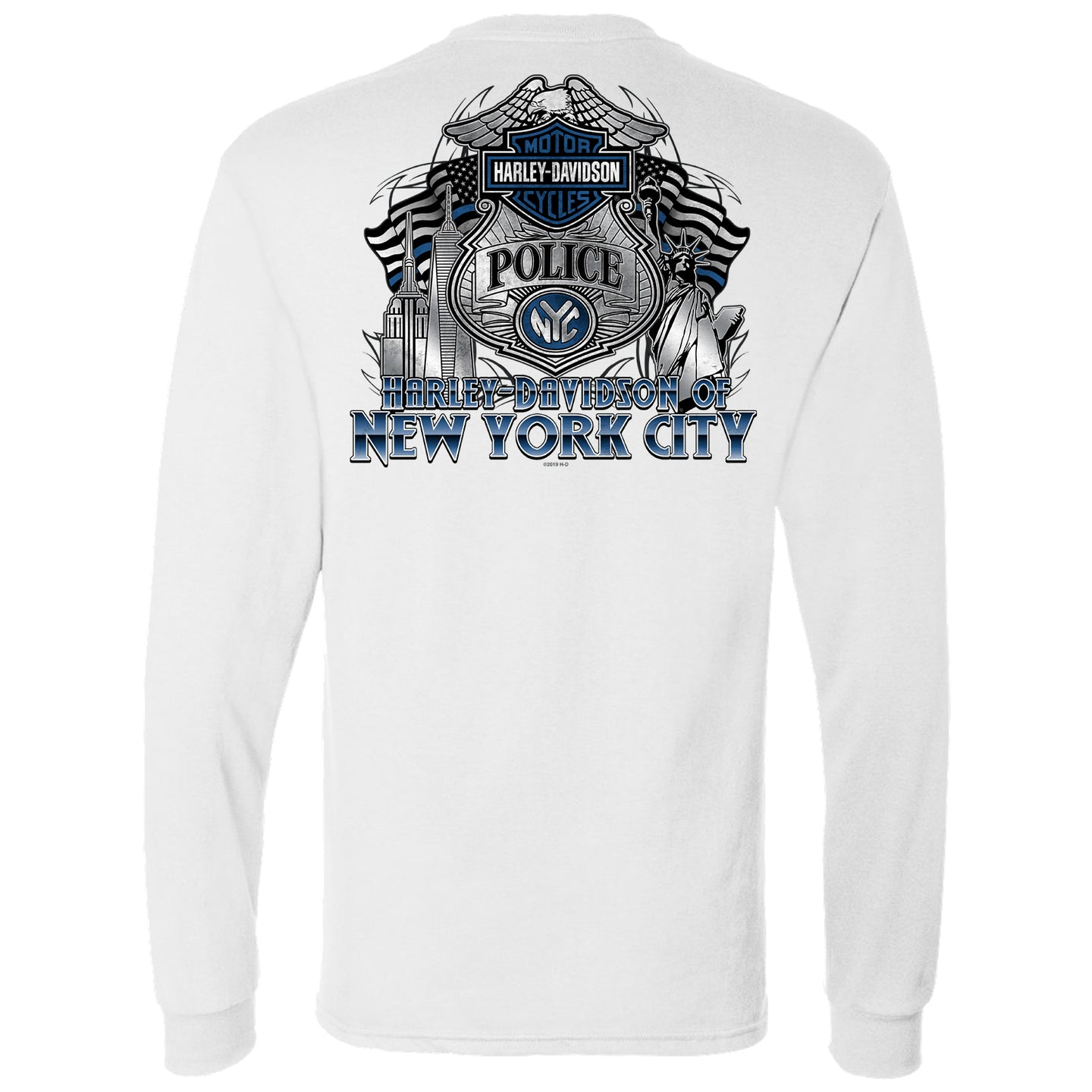 NYC EXCLUSIVE WHITE POLICE LONG SLEEVE SHIRT