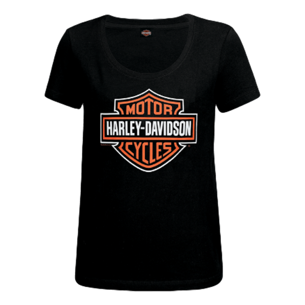 Women's Bar & Shield Scoop Neck Tee