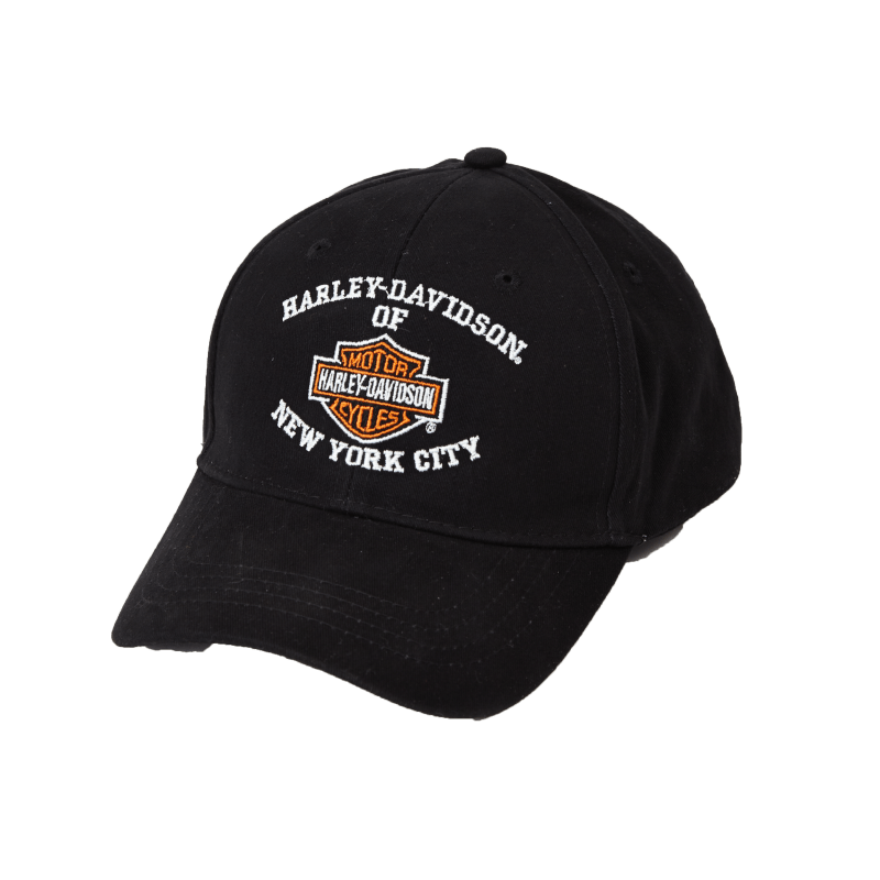 front-harley-davidson-nyc-bar-shield-cap-black