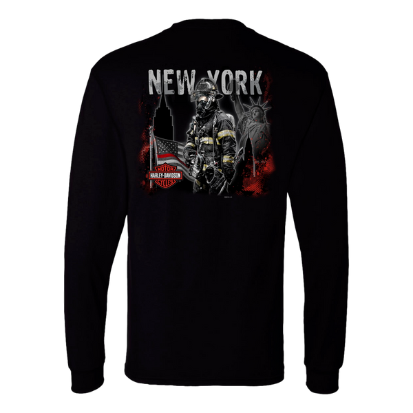 NYC Exclusive Brave Firefighter Long Sleeve Shirt