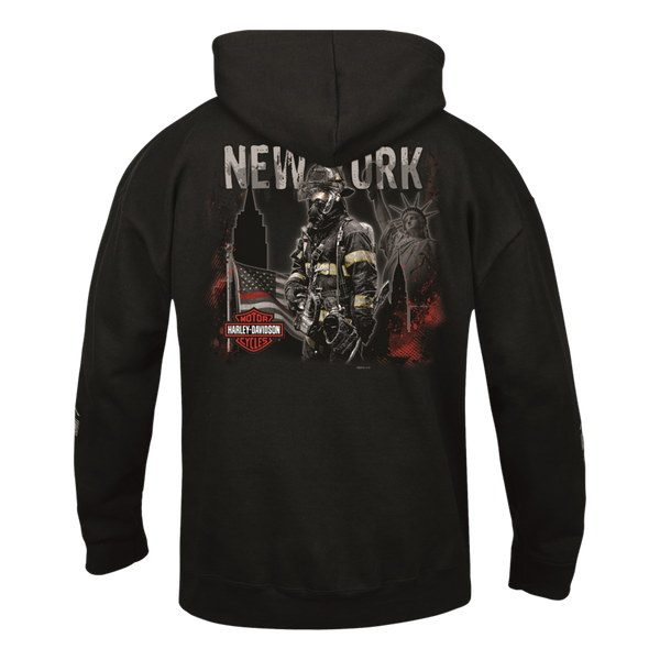 NYC Exclusive Brave Firefighter Zip-Up Hoodie