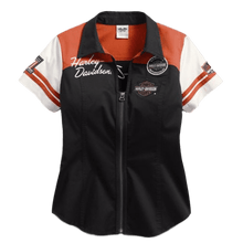front-harley-davidson-genuine-womens-classic-colorblock-zip-front-shirt