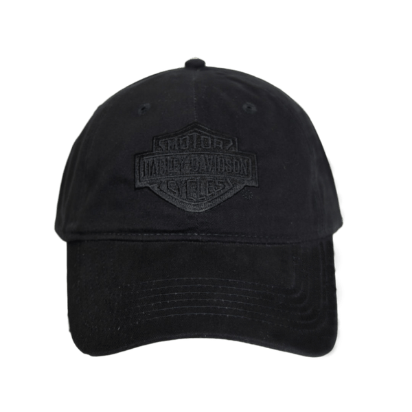 H-D OF NYC DOUBLE BLACK TONAL CAP