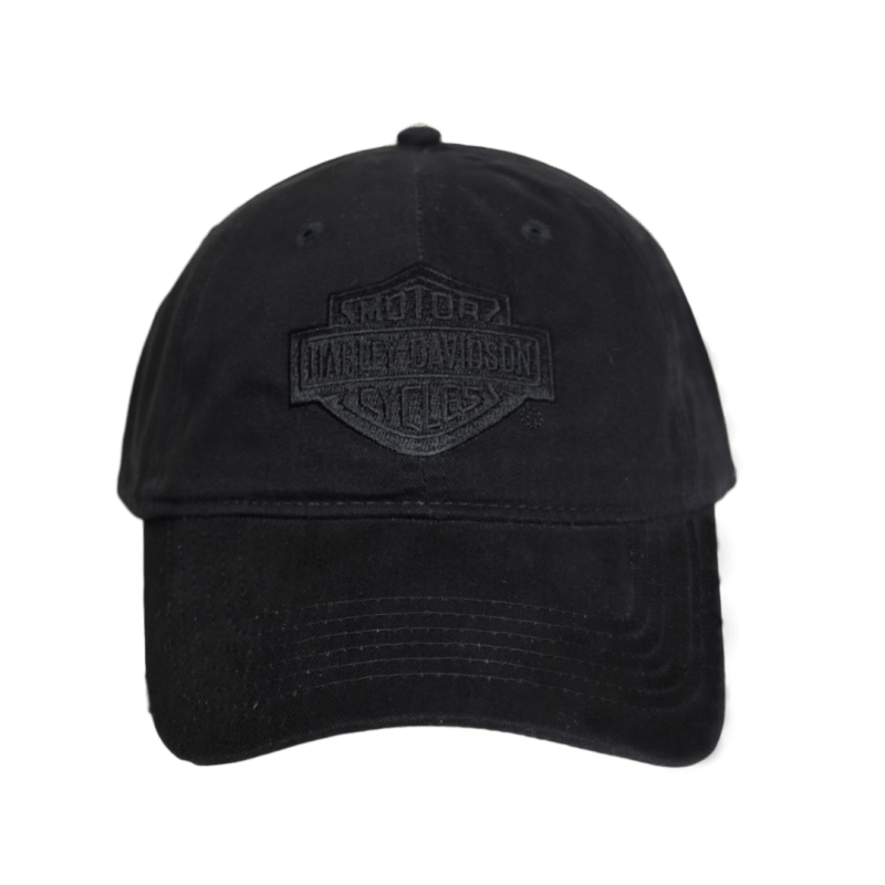 front-harley-davidson-nyc-double-black-tonal-cap-black