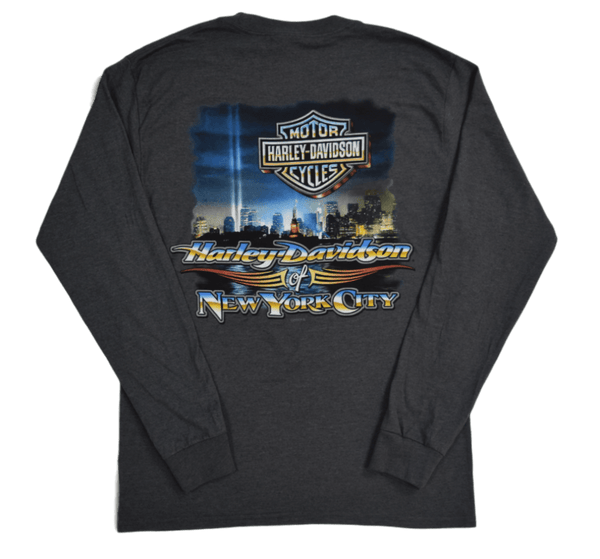back-harley-davidson-nyc-beams-of-light-long-sleeve-charcoal-tee