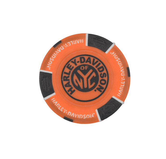 NYC Orange Black Poker Chip