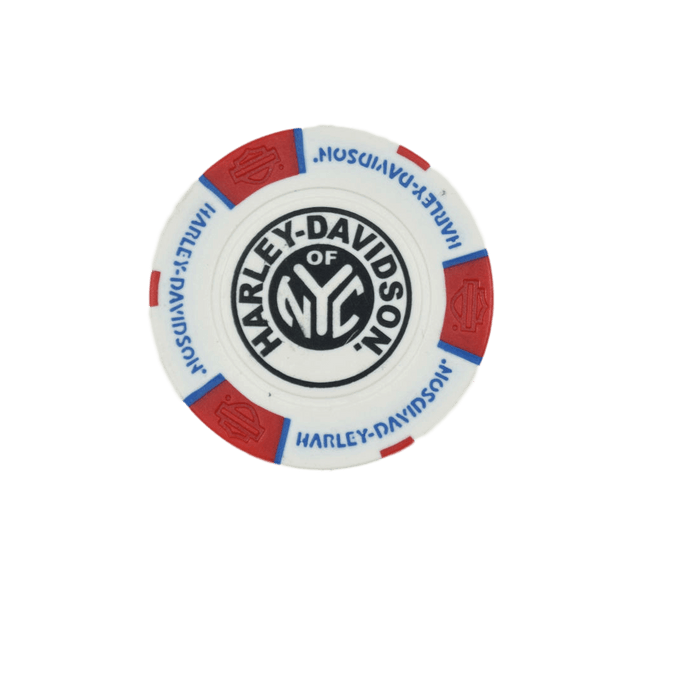 NYC Red White Blue Poker Chip