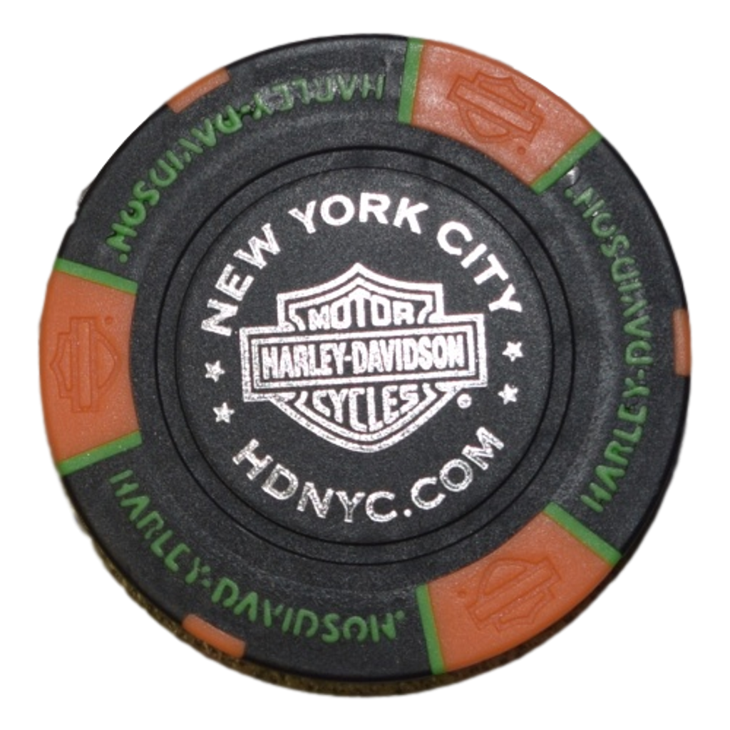 NYC Black/Orange/Green Poker Chip