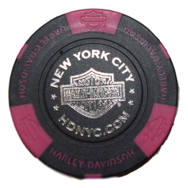 NYC Neon Pink And Black Poker Chip
