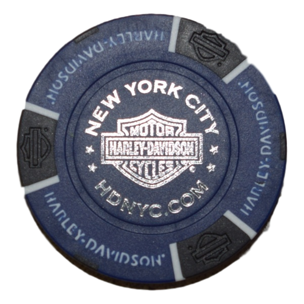 NYC Royal Blue Poker Chip
