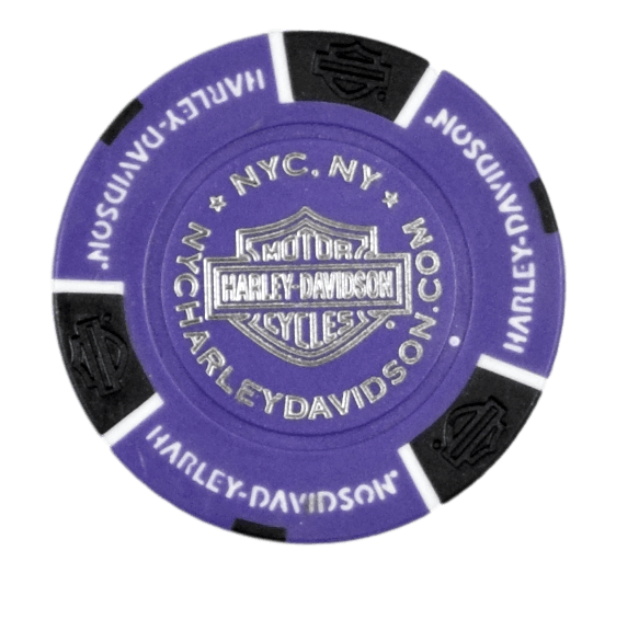 NYC Purple Poker Chip