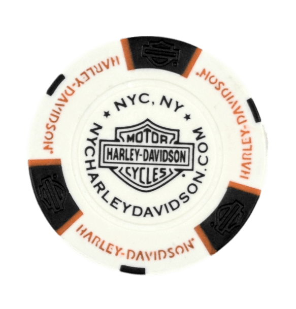 NYC White Poker Chip