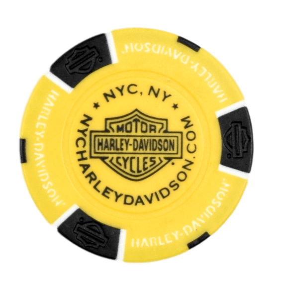 NYC Yellow Poker Chip