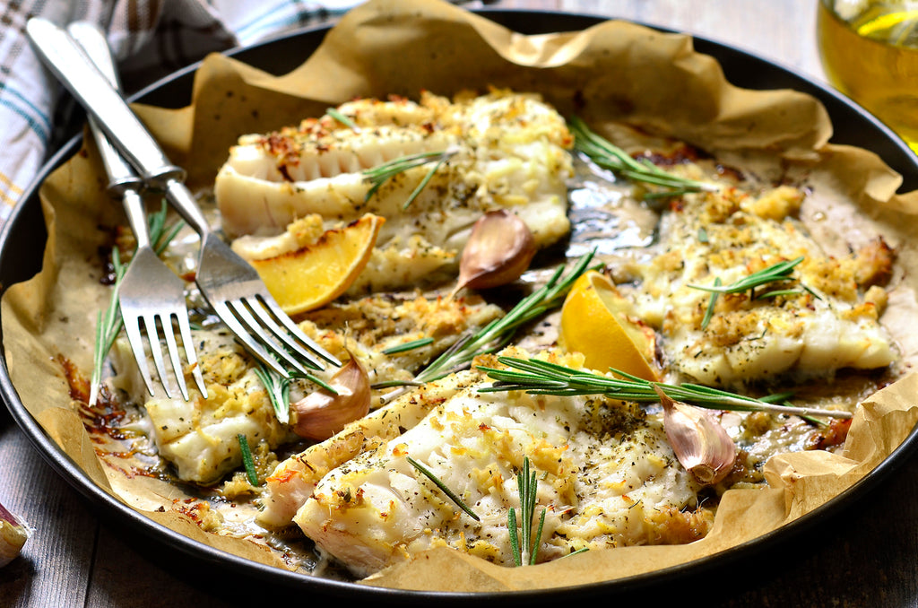 Greek Lemon Garlic Panko Baked Cod Rawspicebar