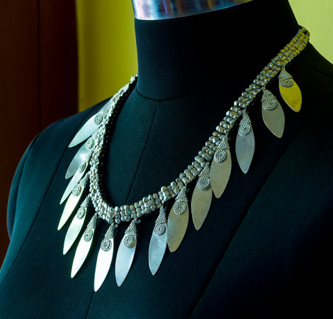 DOKRA TRIBAL NECKLACE- SILVER COATED
