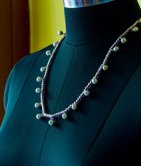 DOKRA TRIBAL CHAIN- SILVER COATED