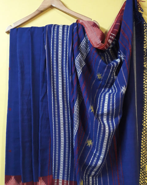 Kotpad Organic Cotton Saree- Blue