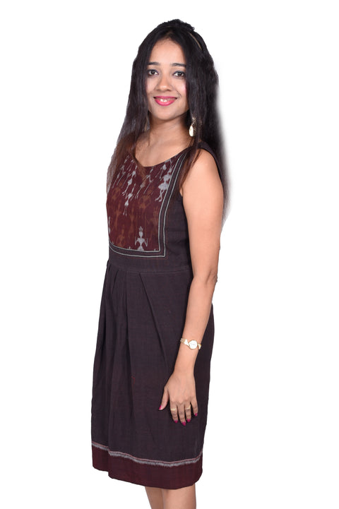 Brown Ikat Dress