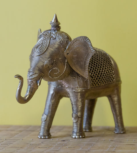 Dokra Brass Elephant- Large