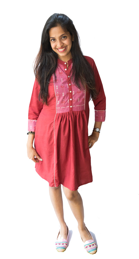 Red Ikat Dress