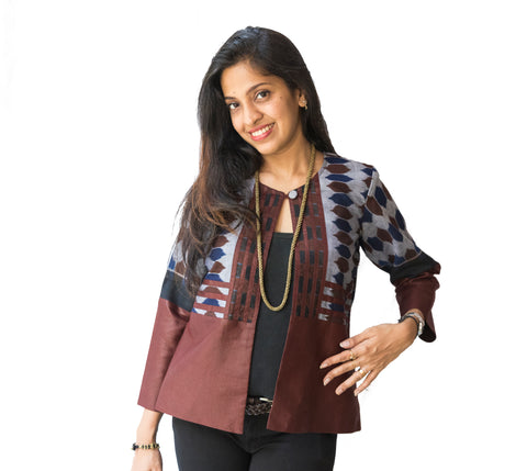 Brown Ikat Jacket