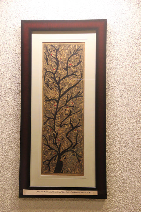 Tree of Life- Madhubani Painting on Handmade Paper