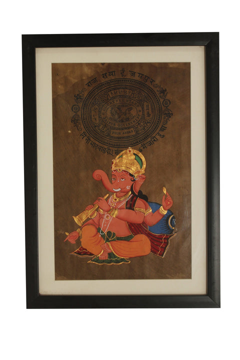 Rajasthan Miniature Painting On Mughal Stamp Paper