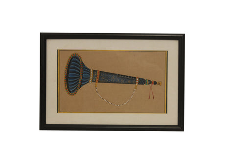 Musical Instrument- Shahnai (Rajasthan Miniature Painting On Paper)