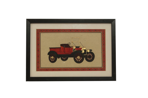Vintage Car (Rajasthan Miniature Painting on Paper)