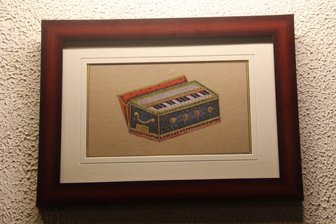 Musical Instrument- Harmonium (Rajasthan Miniature Painting On Paper)