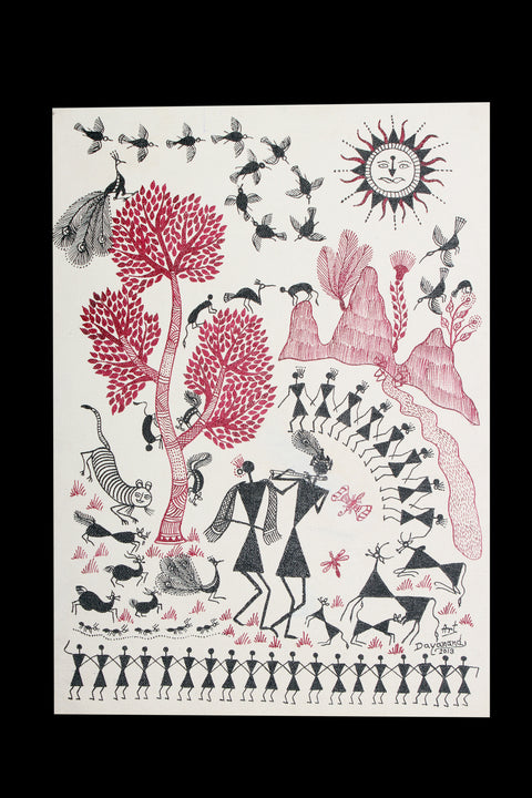 Warli Painting on Canvas