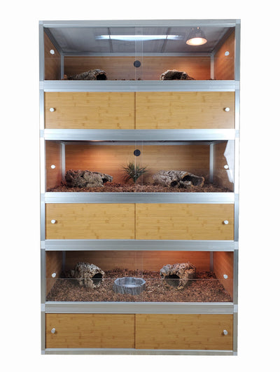 "48""x24""x16"" PVC Panel Reptile Enclosure by Zen Habitats"