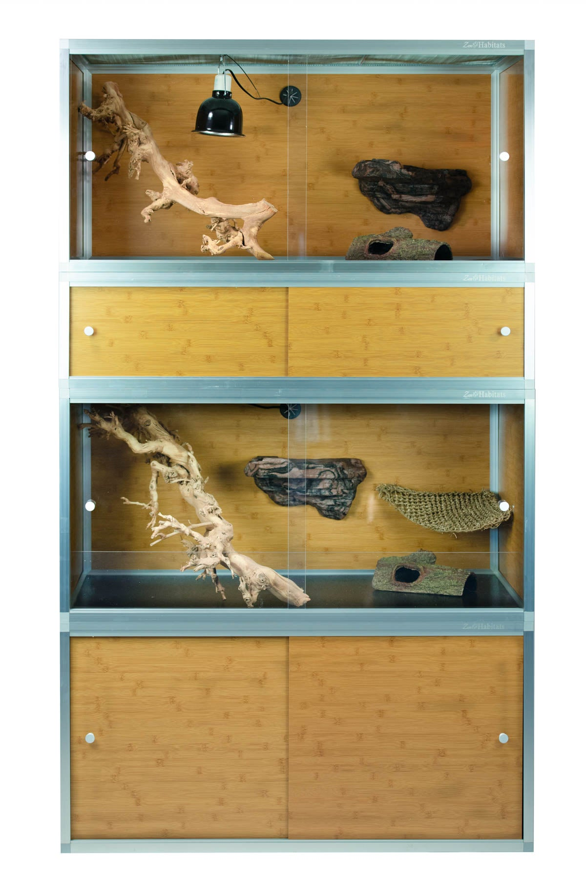 4'x2'x2' Zen Habitats Reptile Enclosures with Substrate Shield